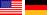 Flagge US DE
