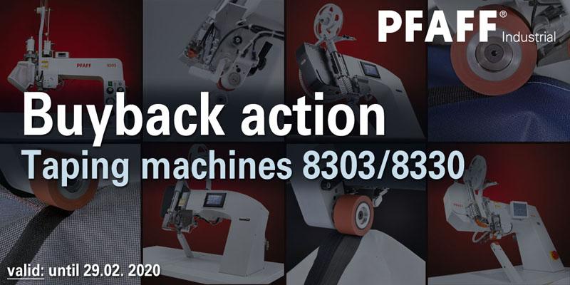 Buyback action: Taping machines